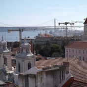 View of the Tagus River from atop Lisb'on Hostel
