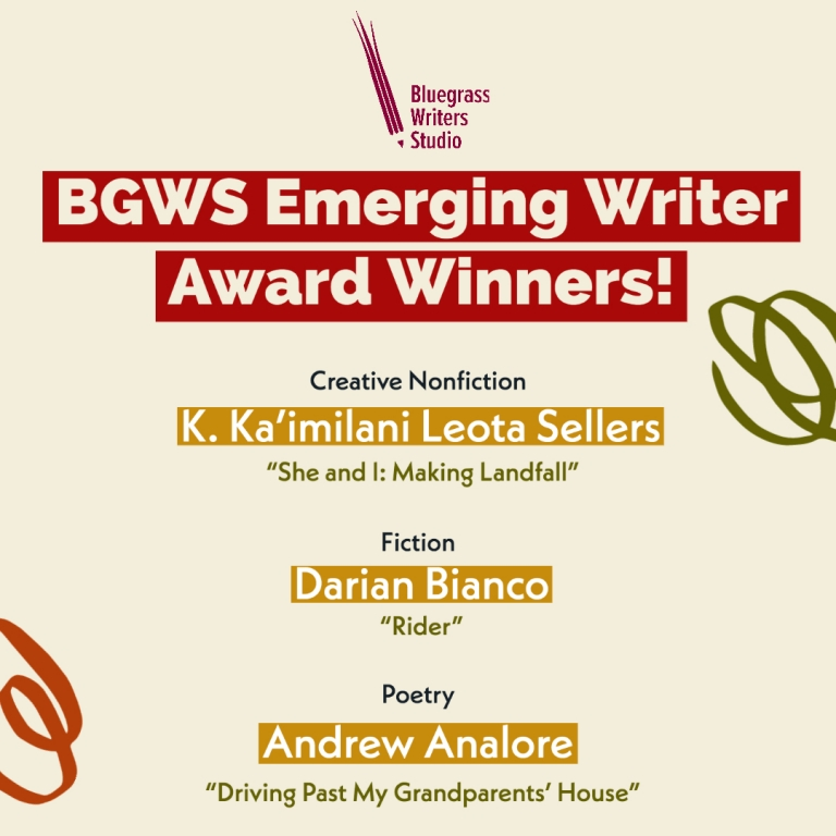 BGWS Emerging Writer Award Winners!