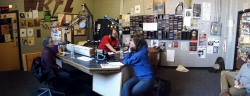 Maureen McHugh interviewed by Katerina Stoykova-Klemer for Accents radio show on WRFL. Credit KRThompson