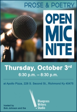 Prose and Poetry Open Mic Nite, content in text below