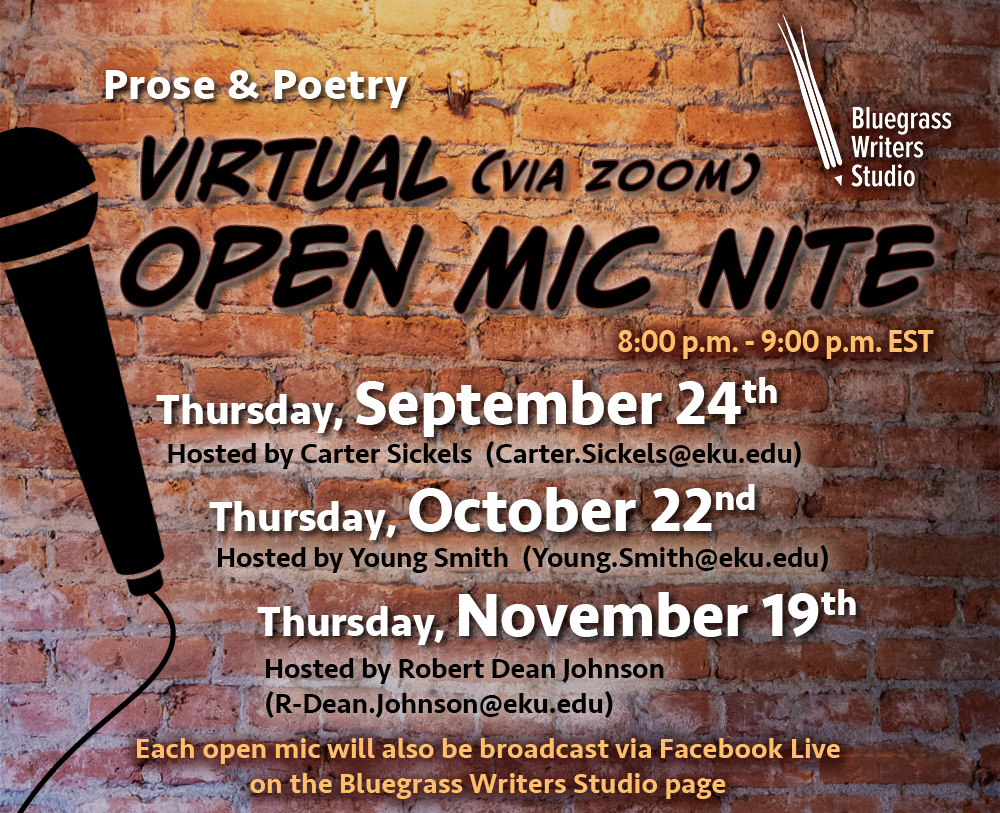 Prose and Poetry Virtual Open Mic Nite